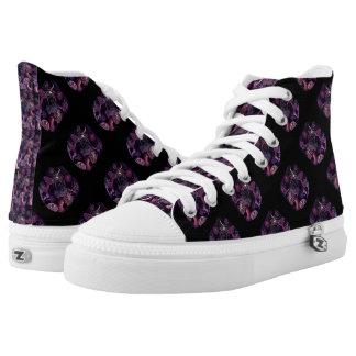 Anemones in Dark Purple Printed Shoes
