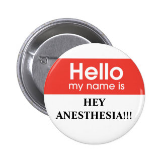 Anesthesia 6 Cm Round Badge