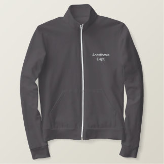 Anesthesia Dept Embroidered Jackets