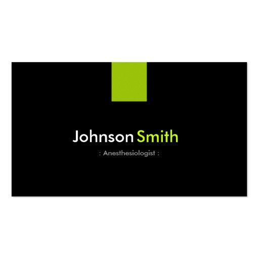 Anesthesiologist Modern Mint Green Business Cards