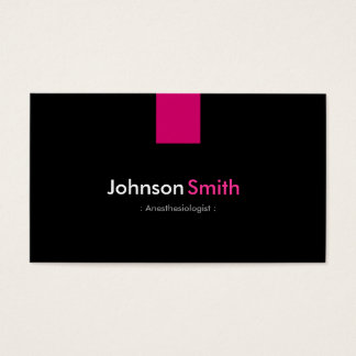 Anesthesiologist Modern Rose Pink Business Card