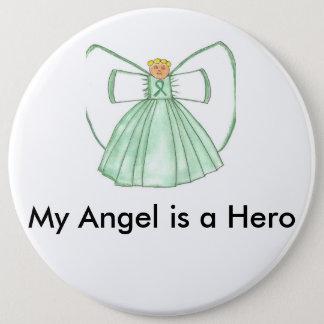 angel1 6 cm round badge