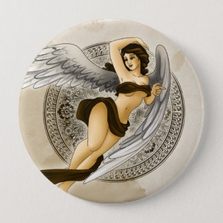 Angel 10 Cm Round Badge