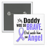 Angel 1 Daddy Stomach Cancer 15 Cm Square Badge