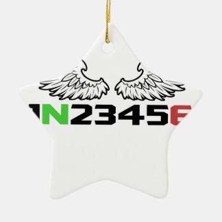 angel 1N23456 Ceramic Ornament