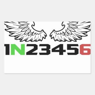 angel 1N23456 Rectangular Sticker