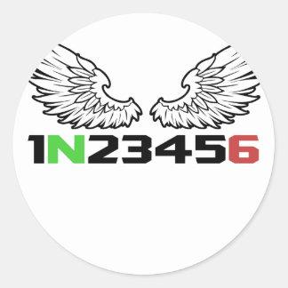 angel 1N23456 Round Sticker