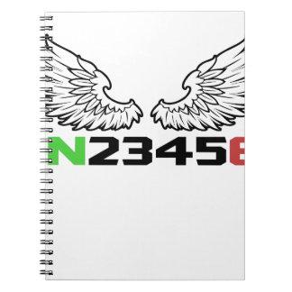 angel 1N23456 Spiral Notebook
