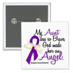 Angel 2 Aunt Pancreatic Cancer 15 Cm Square Badge
