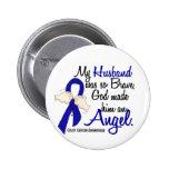 Angel 2 Husband Colon Cancer Badge
