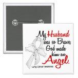 Angel 2 Husband Lung Cancer 15 Cm Square Badge