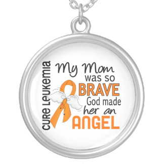 Angel 2 Mom Leukemia Custom Necklace