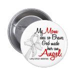 Angel 2 Mum Lung Cancer Buttons
