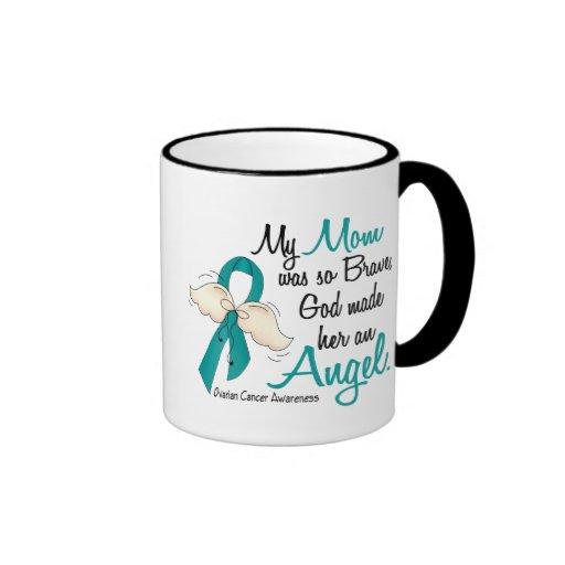 Angel 2 Ovarian Cancer Mom Mugs