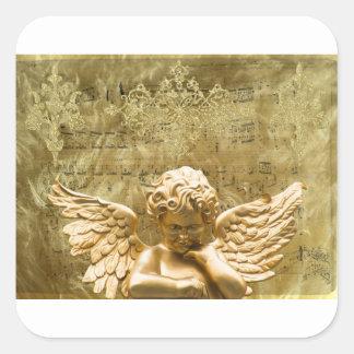 Angel #2 square sticker