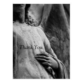 Angel 3 Christian Memorial Sympathy Thank You Postcard