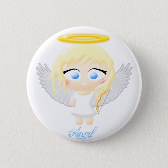 Angel 6 Cm Round Badge