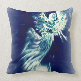 Angel accent pillow in blue