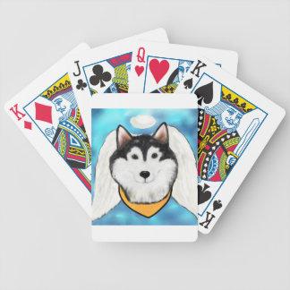 Angel Alaskan Malamute Bicycle Playing Cards
