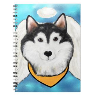Angel Alaskan Malamute Notebooks