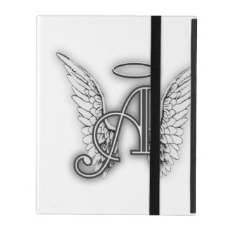 Angel Alphabet A Initial Latter Wings Halo iPad Case