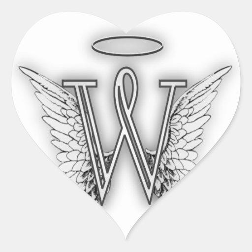 Angel Alphabet B Initial Letter Wings Halo Sticker
