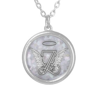 Angel Alphabet Z Initial Letter Wings Halo Jewelry