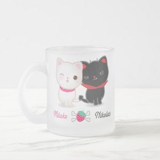 Angel and Devil Cats Mug