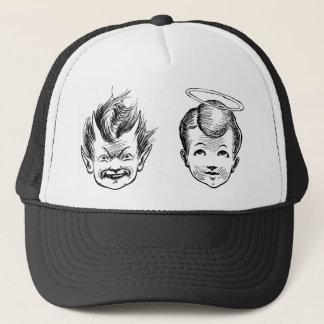 Angel and Devil kids Trucker Hat