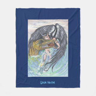 Angel and Dragon Fleece Blanket