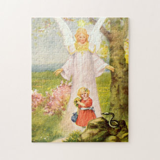 Angel and girl and queue jigsaw puzzle