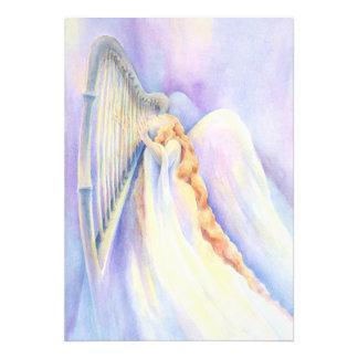 Angel and Harp Print Photographic Print