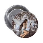 Angel and Her Dove 6 Cm Round Badge