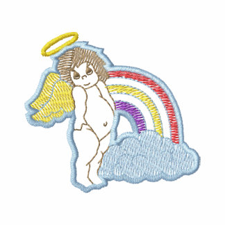 Angel and Rainbow Embroidered Track Jacket