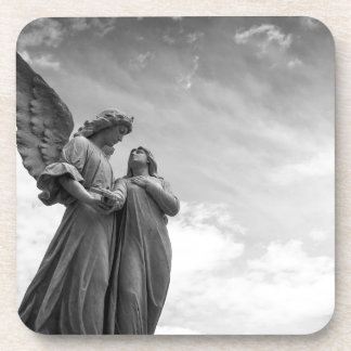 Angel and soul christian sculpture coaster