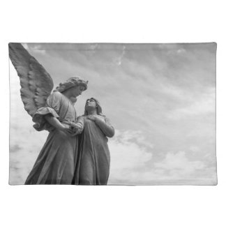 Angel and soul christian sculpture placemat