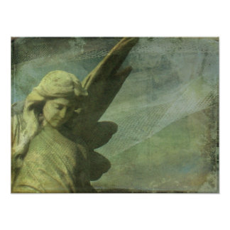 Angel and Textures Poster