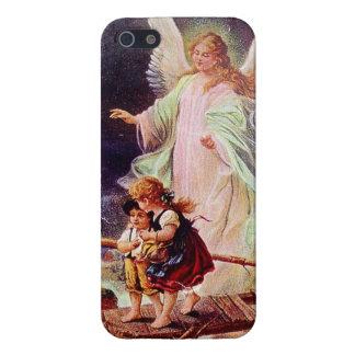 Angel and the Children by Schutzengel iPhone 5 Cases