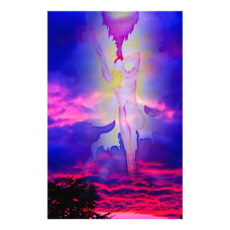 Angel Ascension Day light and energy Personalized Stationery