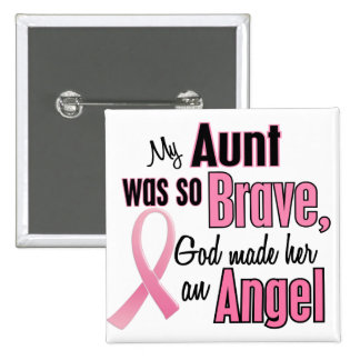 Angel AUNT Breast Cancer T-Shirts & Apparel 15 Cm Square Badge