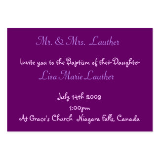 Angel Baby Baptism Business Card