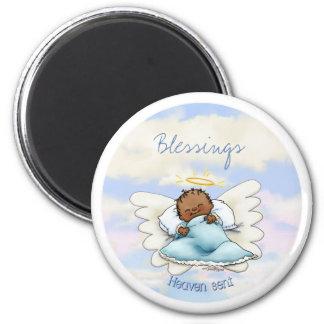 Angel baby boy - African American Magnet