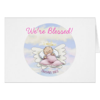 Angel Baby Girl - Heaven sent Card