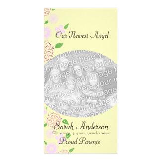 Angel Baby girl Personalised Photo Card