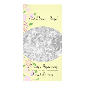 Angel Baby girl Photo Card Template