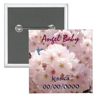 Angel Baby magnet Custom Pink Blossom Birth Date Pin