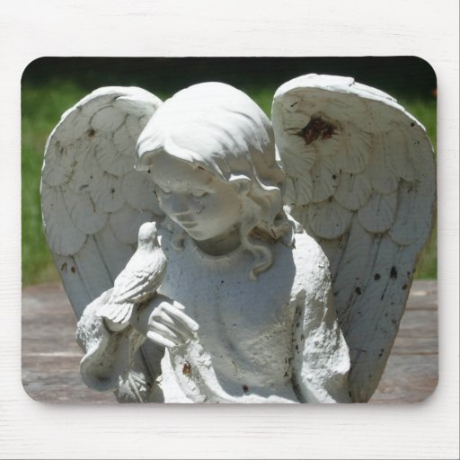 Angel & Bird Feathered Friends Mouse Pad Photo Art