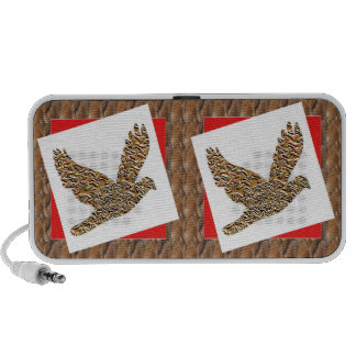 Angel Bird GoodLUCK Gifts Artistic Texture Pattern iPod Speakers
