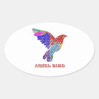ANGEL Bird Oval Sticker