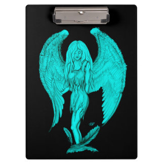 Angel , Black and Green design Clipboard